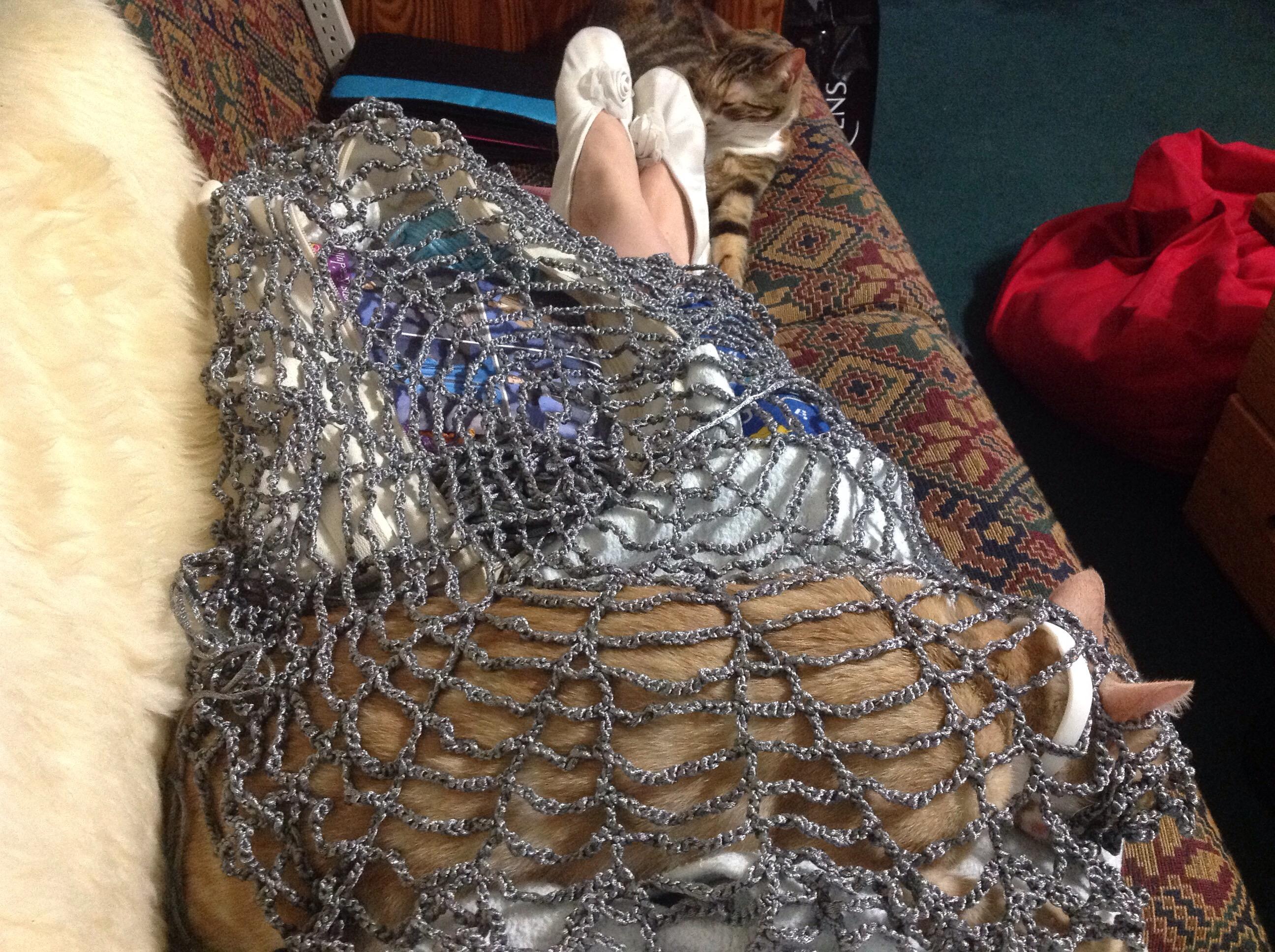 Huge freakin' crochet web