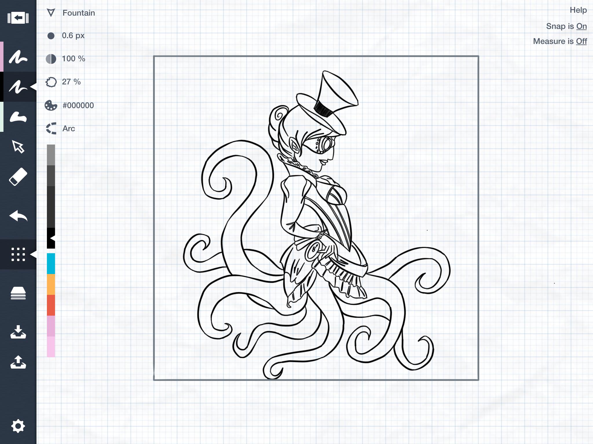 An inky mermaiden!