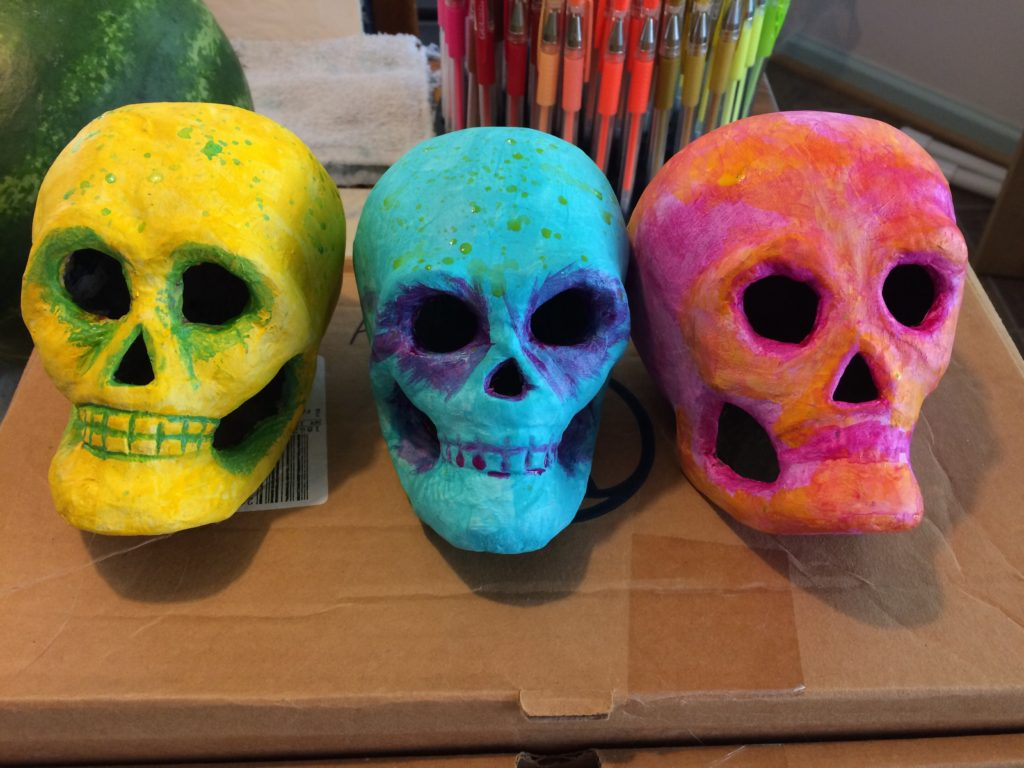 Messy Monday Skulls