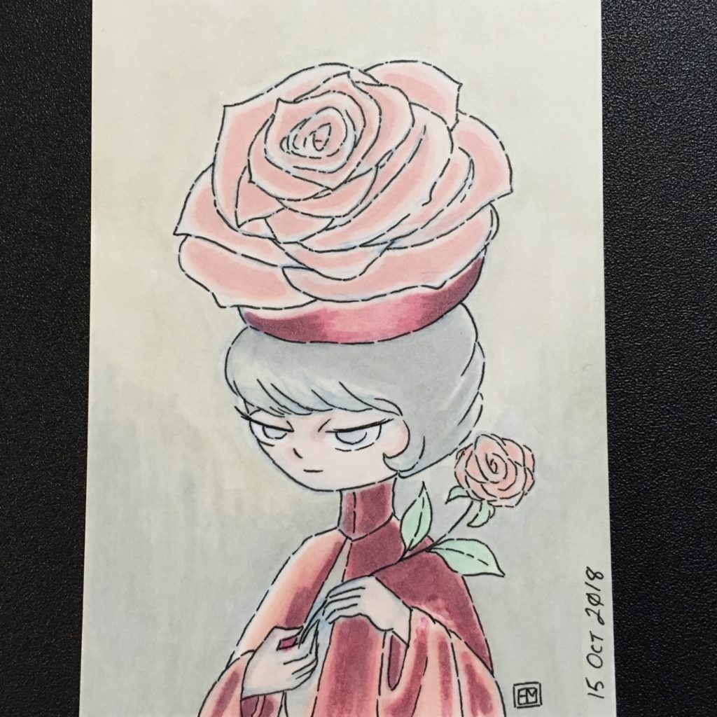 Inktober 2018 Rose Witch