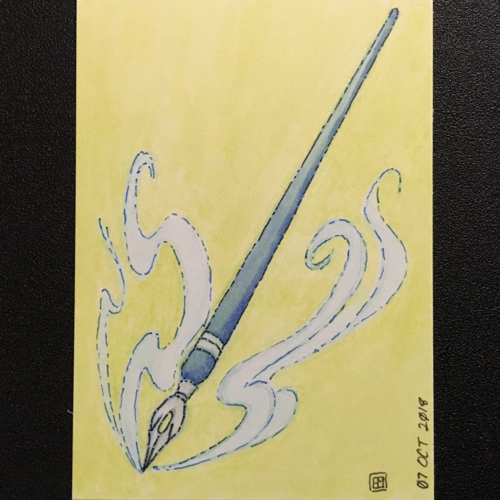 Inktober 2018 Magic Wand