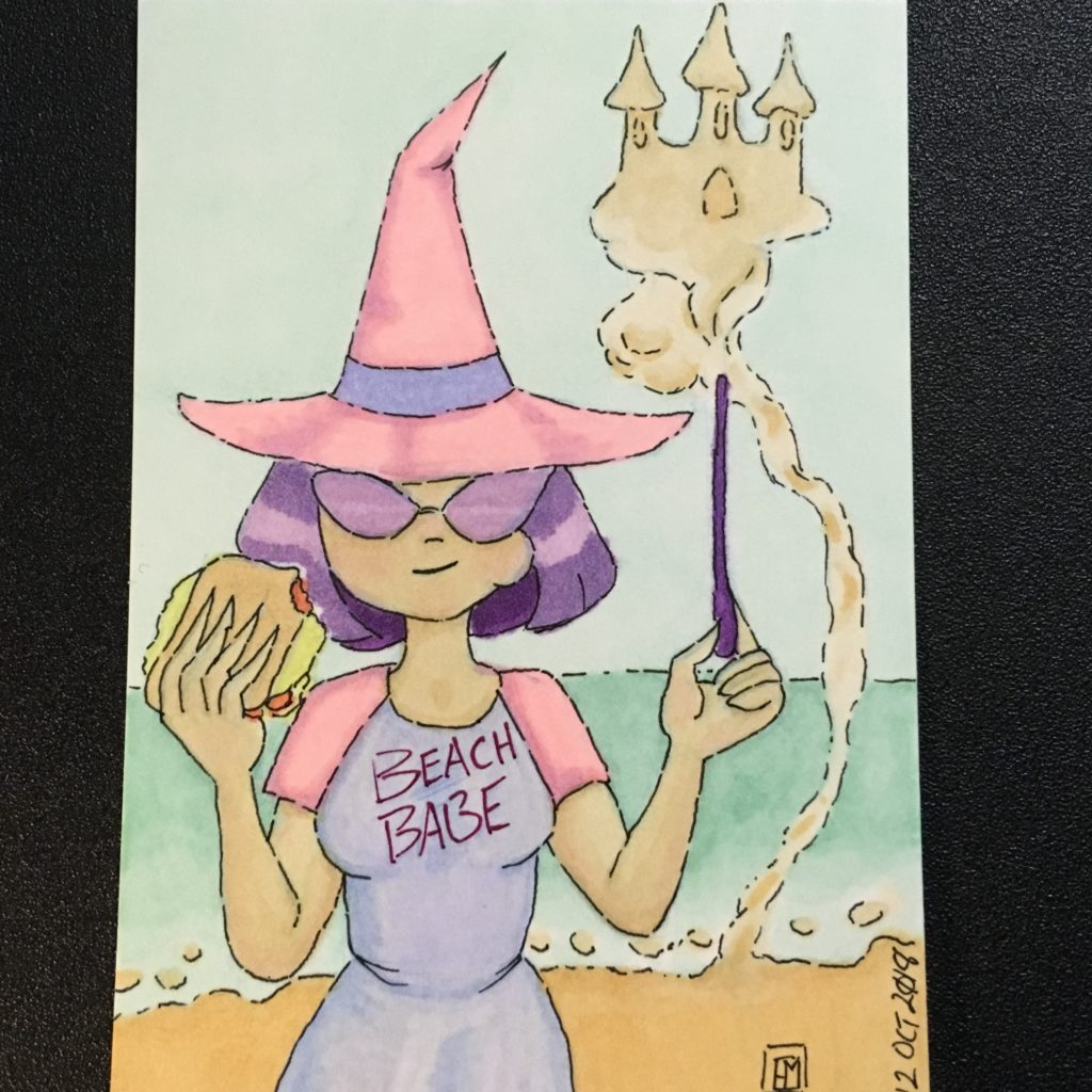 Inktober 2018 Sand Witch