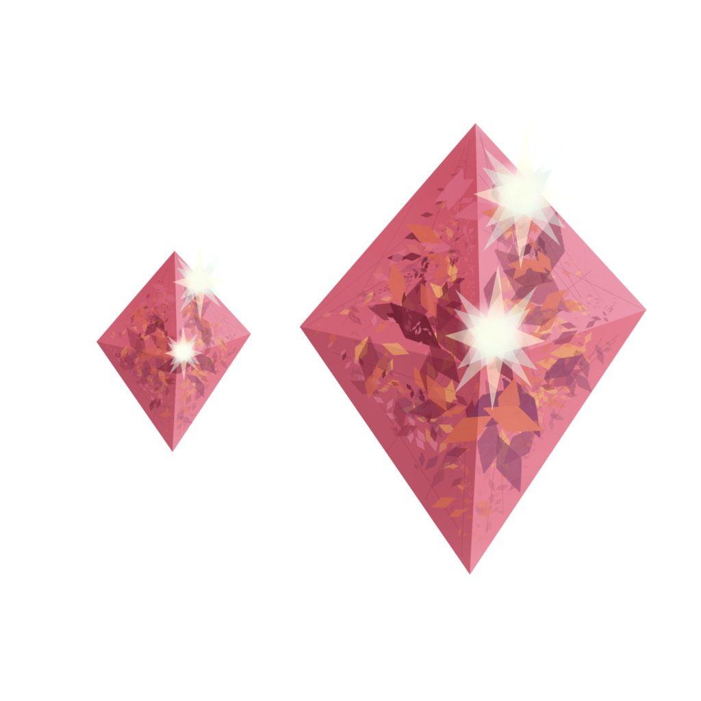 Pink gems drawn in Concepts